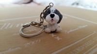 Bearded collie sleutelhanger