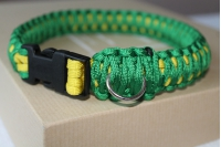 Dog collar - green and yellow