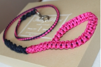 Dog leash - black and pink